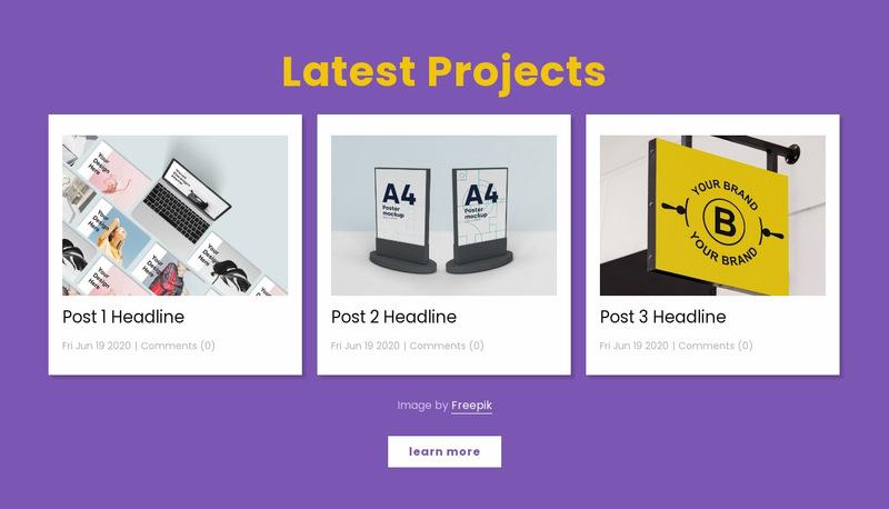 Latest design projects Website Maker