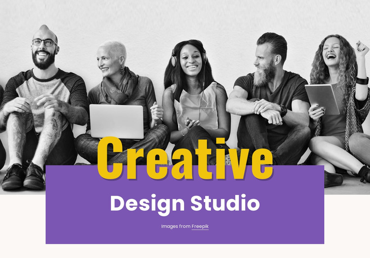 Illustration, video and photography Website Mockup
