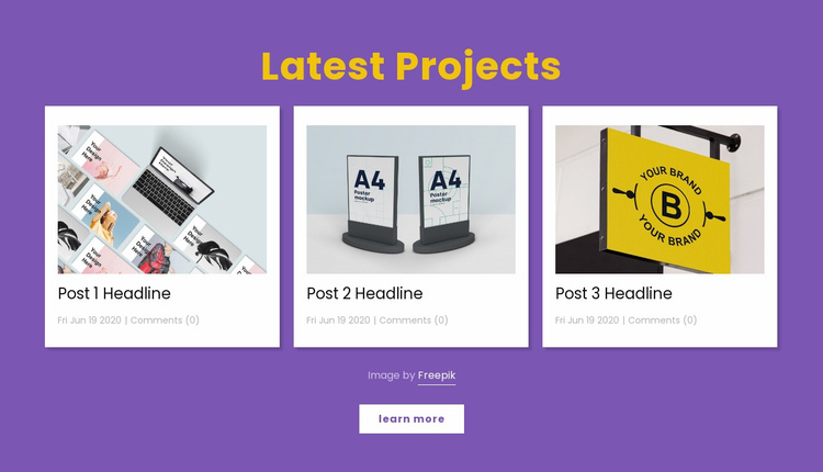 Latest design projects Website Template