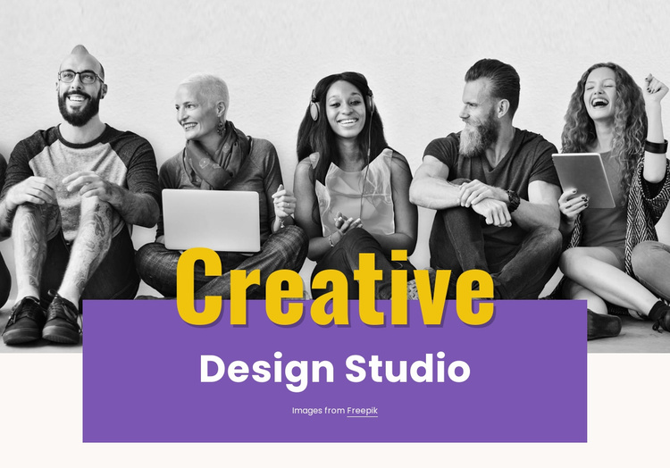 Illustration, video and photography Website Template