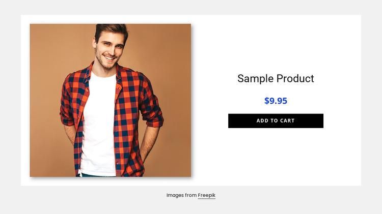Men shirt product details Joomla Page Builder