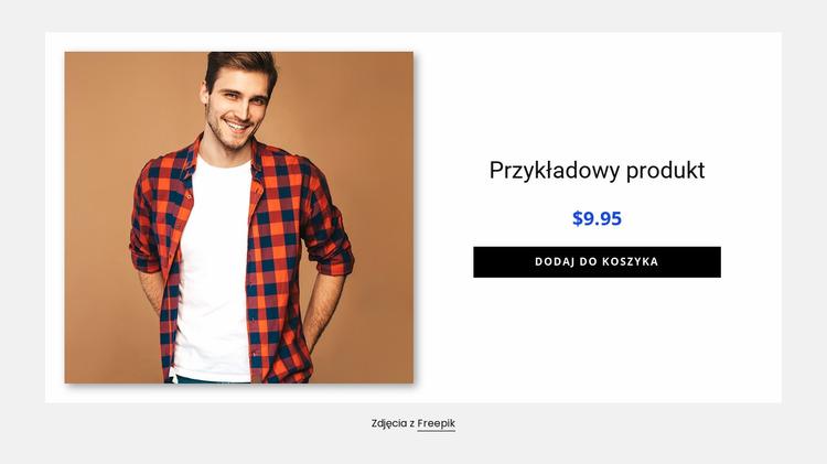 Szczegóły produktu koszuli męskiej Szablon Joomla