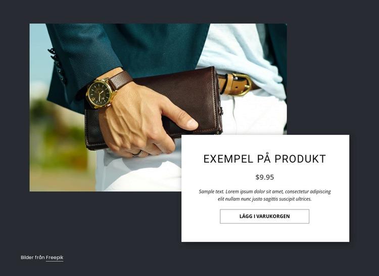 Se produktinformation Webbplats mall