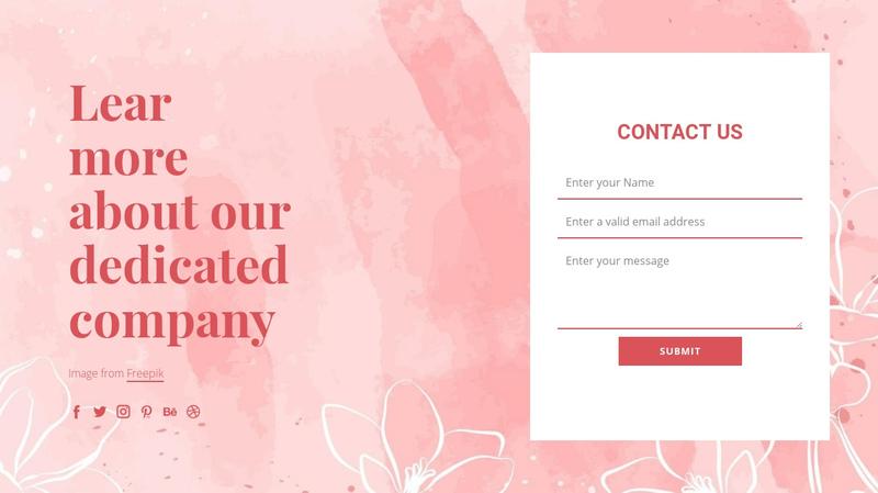 Contact us on vector illustration Website Creator