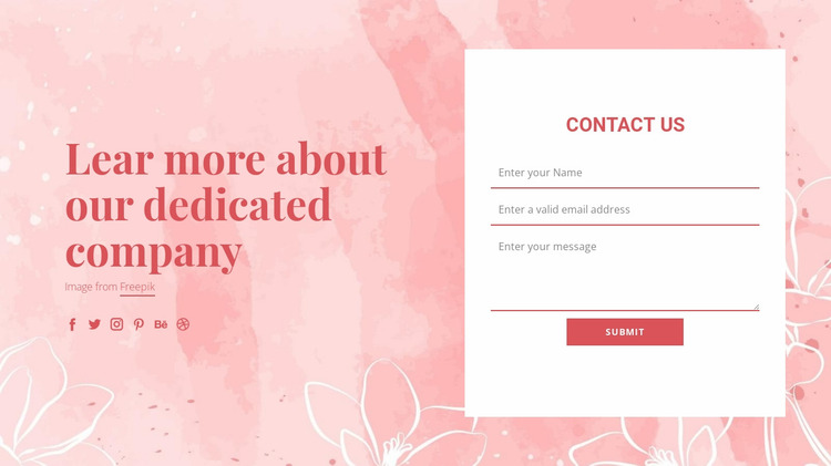Contact us on vector illustration Website Mockup