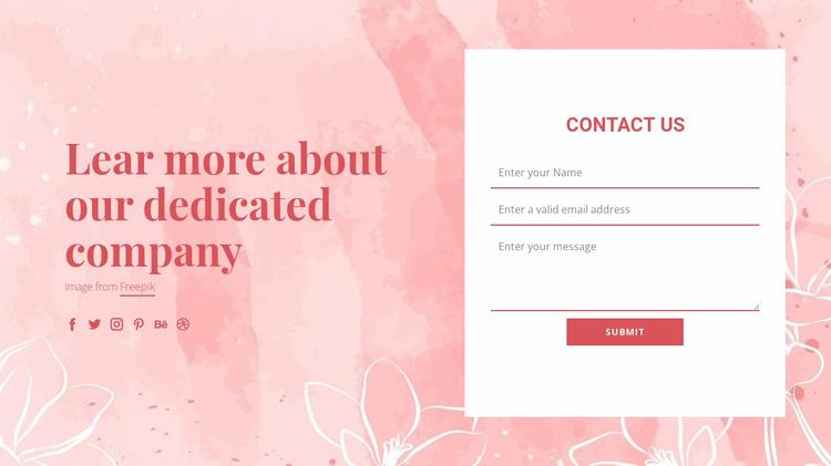 Contact us on vector illustration WordPress Website Builder
