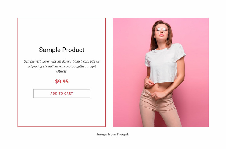White top product details WordPress Website Builder