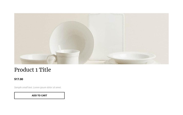 Interior product details CSS Template