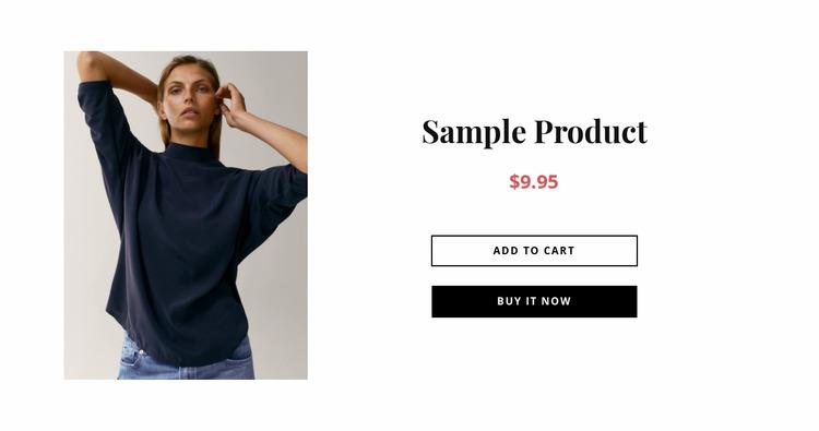 Collection product details Html Website Builder