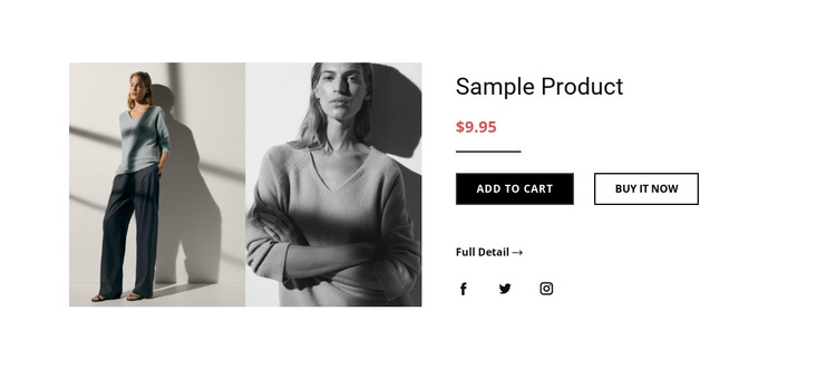 Fashion product details HTML5 Template