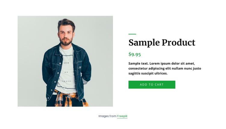 Denim jacket product details Joomla Template