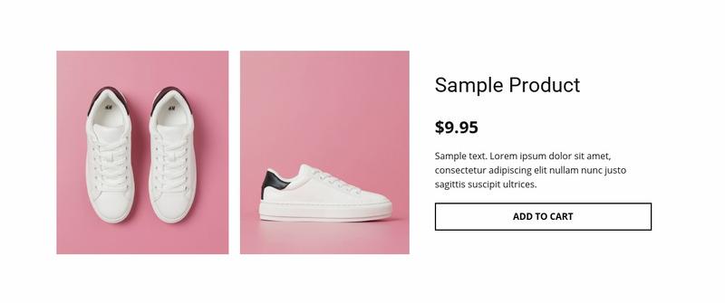 Sport shoes product details Web Page Design