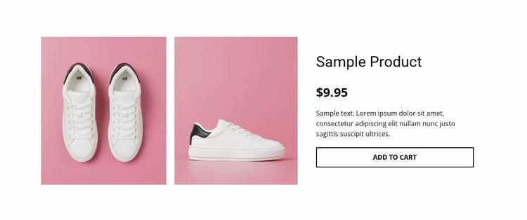 Sport shoes product details Website Mockup