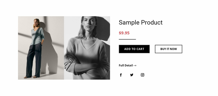 Fashion product details Landing Page