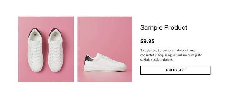 Sport shoes product details WordPress Website Builder