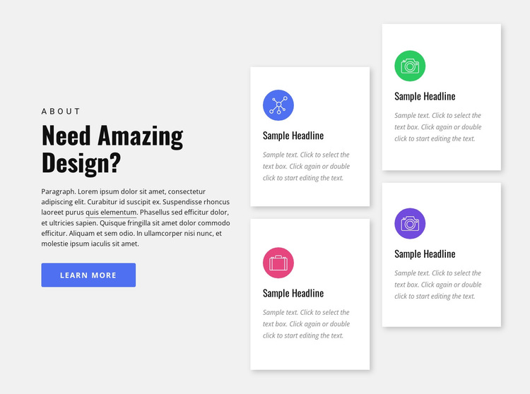 Design agency services HTML5 Template