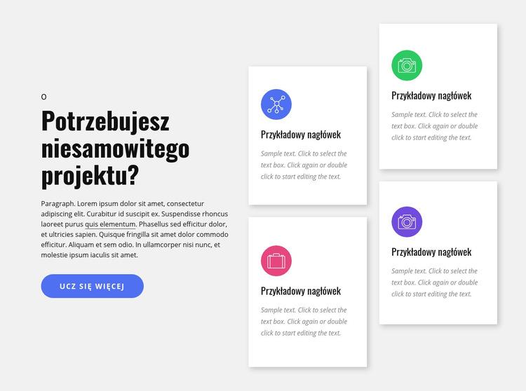 Usługi agencji projektowej Szablon witryny sieci Web