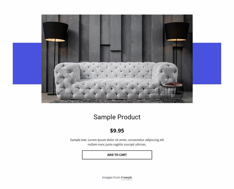 Cozy sofa product details Website Template