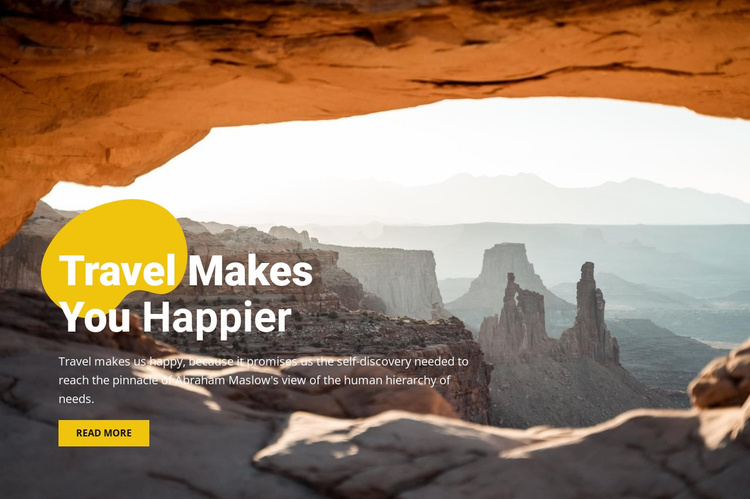 Happy mountain travel Landing Page