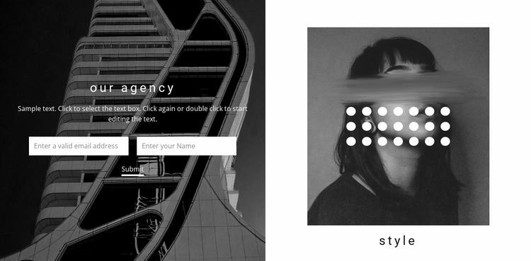 Creative studio contacts Website Template