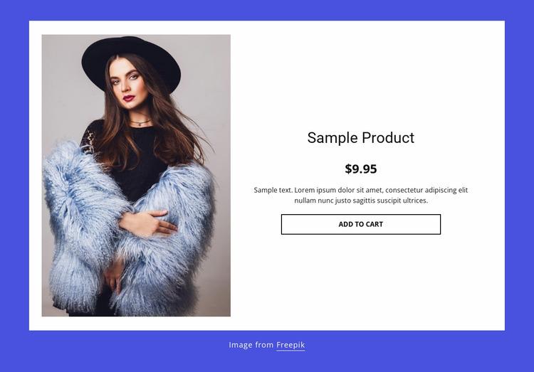 Winter coat product details WordPress Website Builder