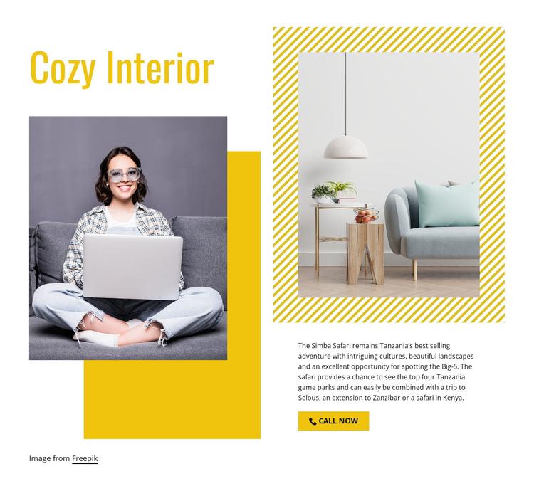 Cozy living room Website Builder Software