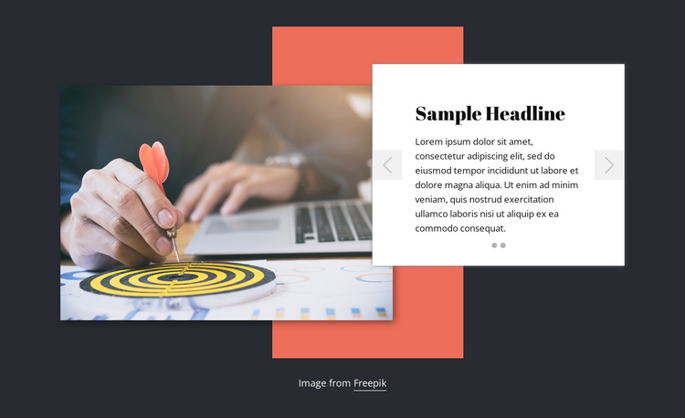 About consulting company One Page Template