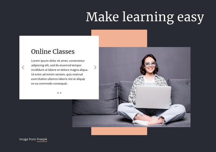 Make learning easy Web Design