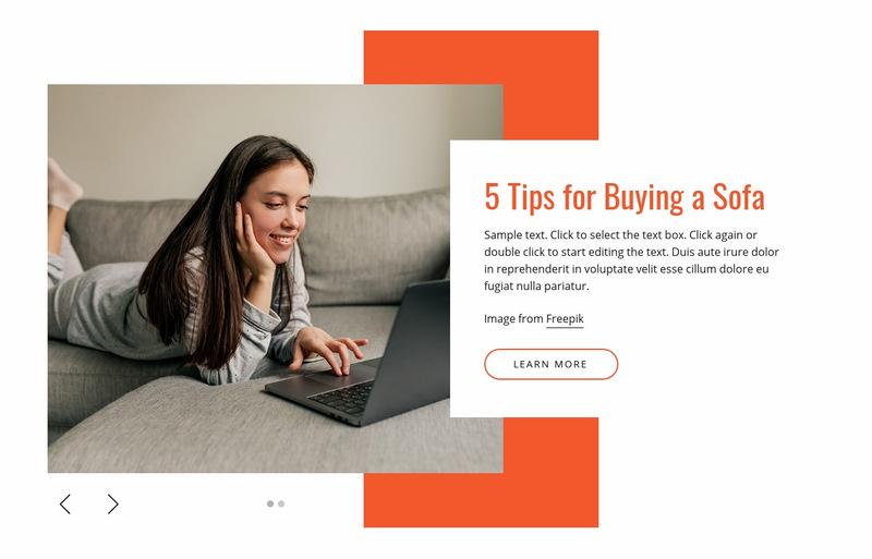 Modern sofas Web Page Designer