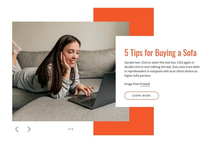 Modern sofas Website Builder Software
