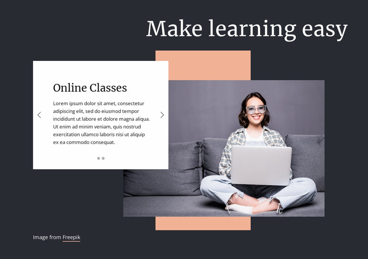 Make learning easy Website Mockup