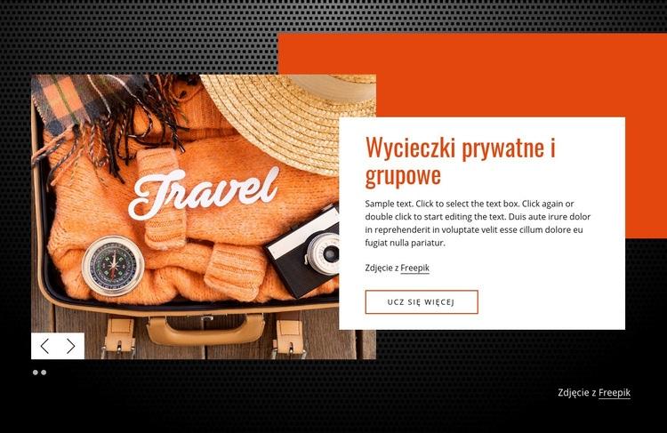Wycieczki prywatne i grupowe Szablon witryny sieci Web