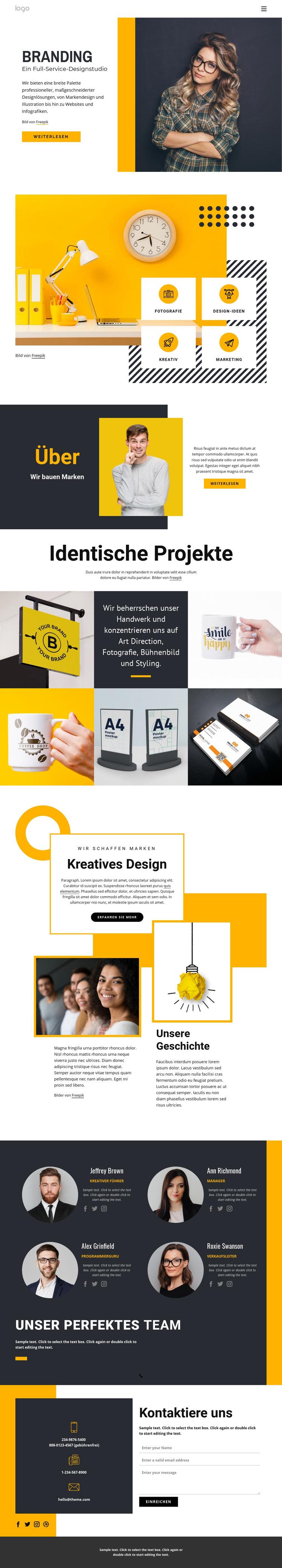 Full-Service-Designstudio Website-Vorlage