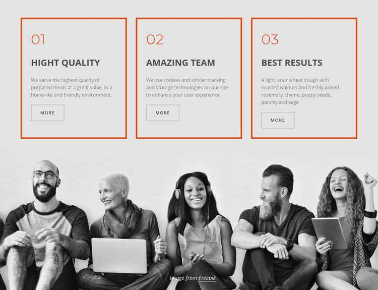 Company business services Homepage Design