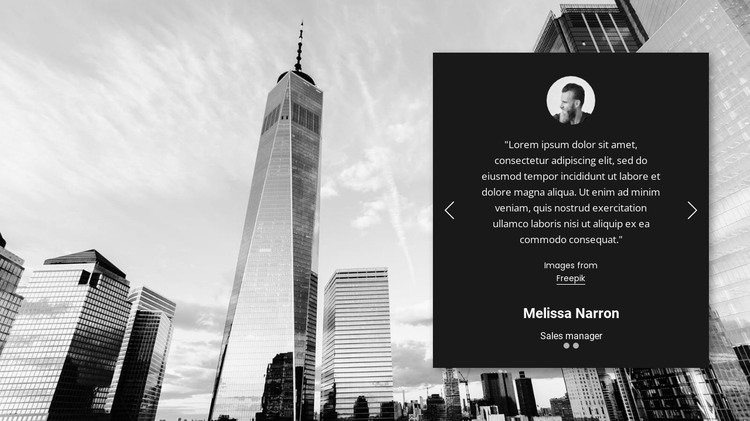 Business user testimonials HTML Template