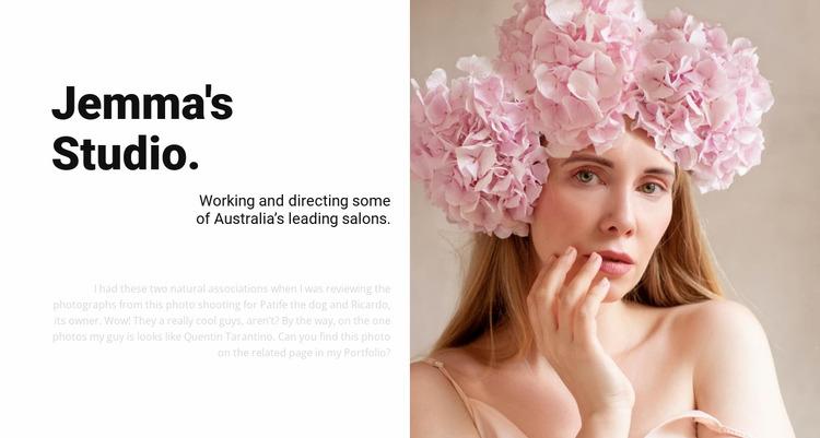 Fashion beauty salon  Html Website Builder