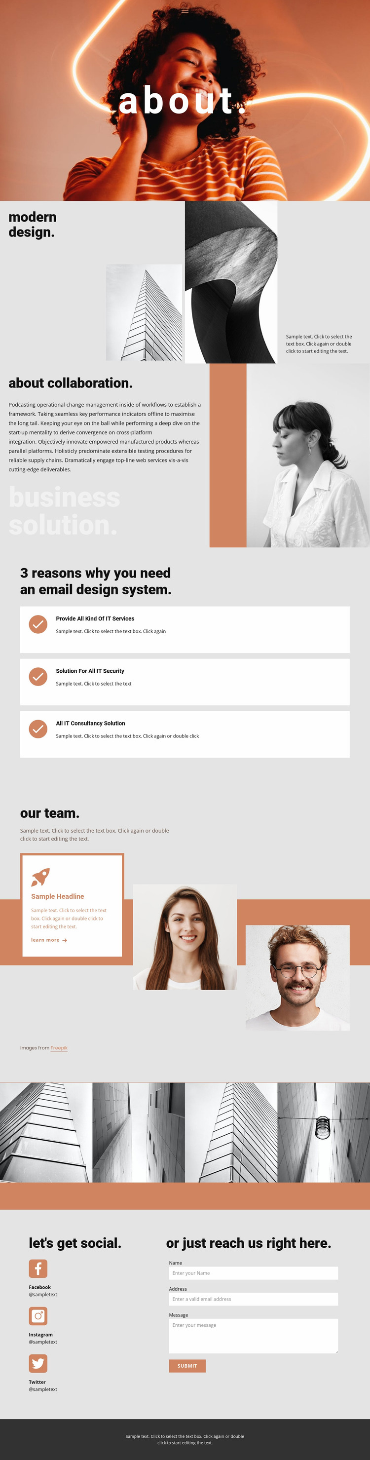 Union of Artists and Architects Website Mockup