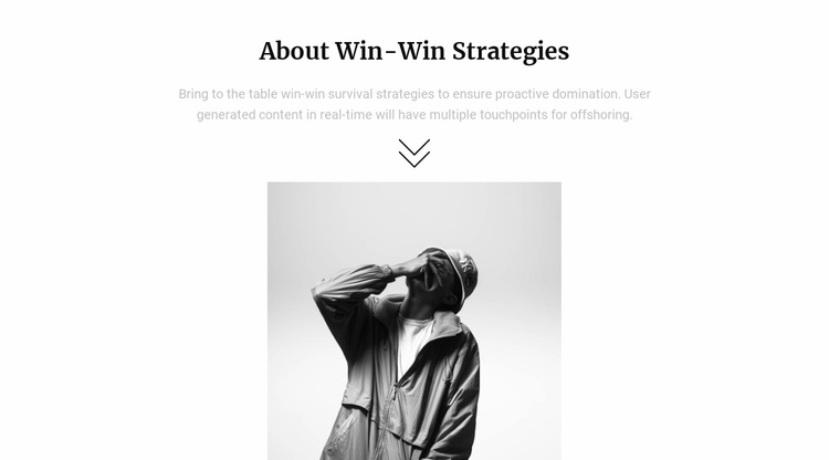 About our strategy Website Template