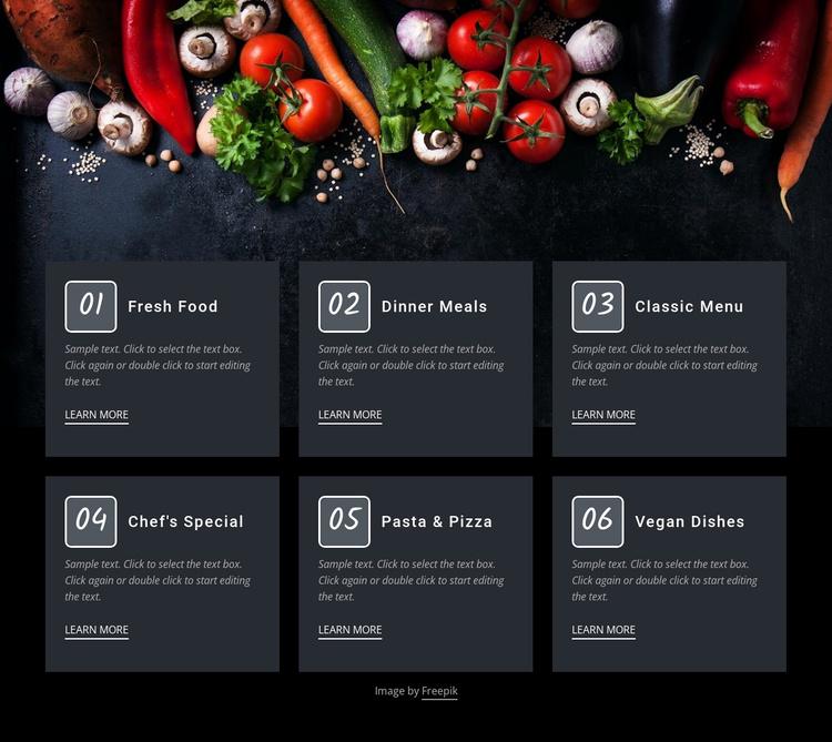 Fresh food cafe Website Template