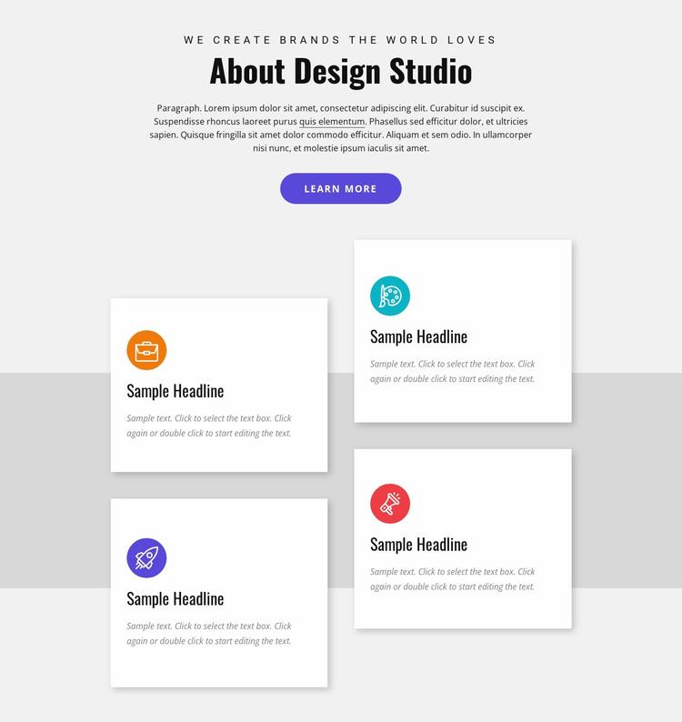 Custom web-based solutions Landing Page
