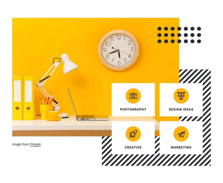 Digital creativity services One Page Template