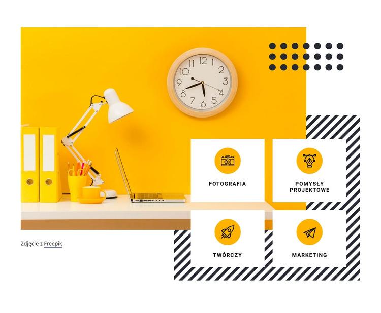 Usługi w zakresie kreatywności cyfrowej Szablon witryny sieci Web