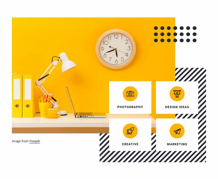Digital creativity services Website Mockup