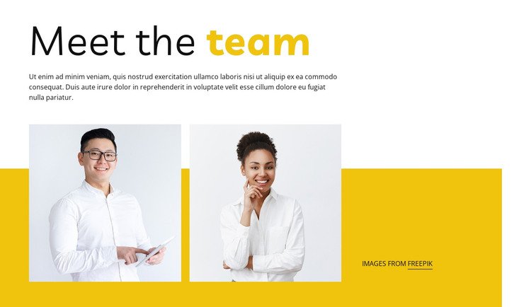 We're a small team with big ideas HTML Template
