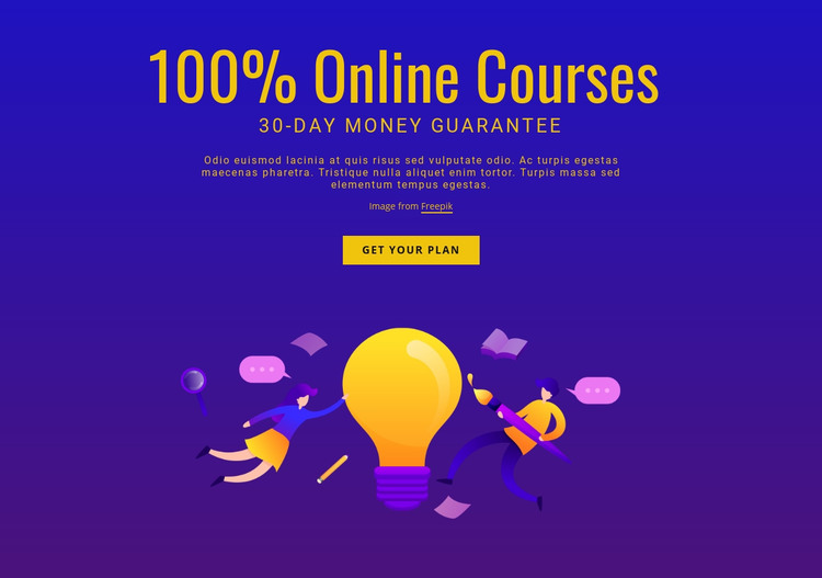Advanced English cources Homepage Design