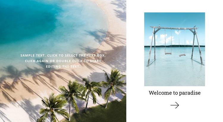 Paradise land travel HTML Template