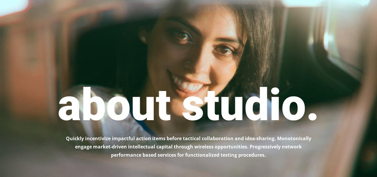 About our photo studio HTML Template