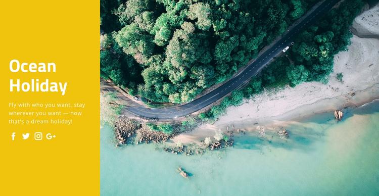 Ocean holiday travel Website Builder Software
