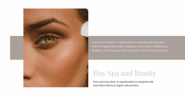 Spa and beauty fashion Website Template