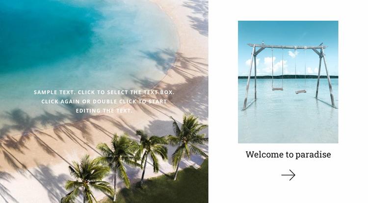 Paradise land travel Website Template